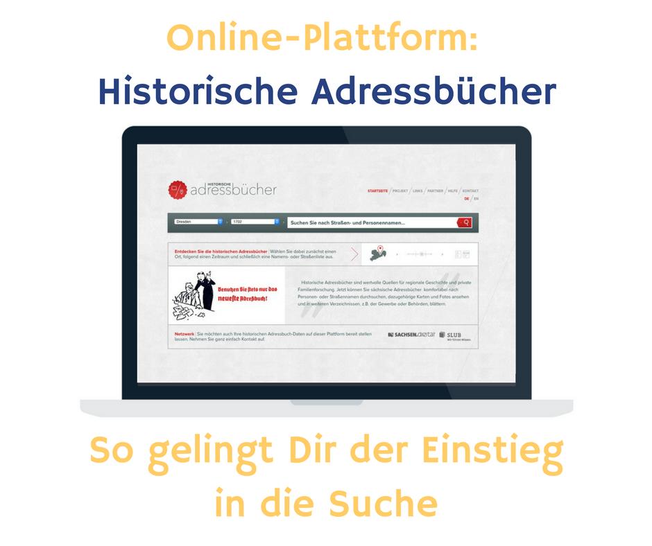 Online-Plattform: Historische Adressbücher. So gelingt dir der Einstieg in eine erfolgreiche Suche