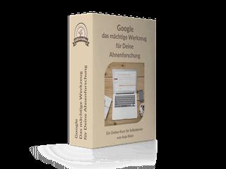 """Software Box fuer Online Kurs: """"Google - das mächtige Werkzeug für Deine Ahnenforschung"""""""