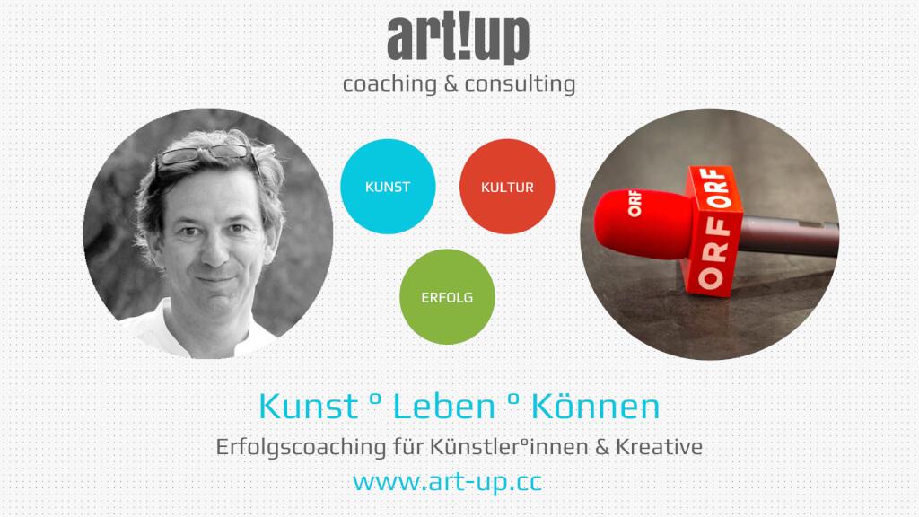 ORF Radio Interview zum art!up Künstlercoaching: Wie kann man von Kunst leben?