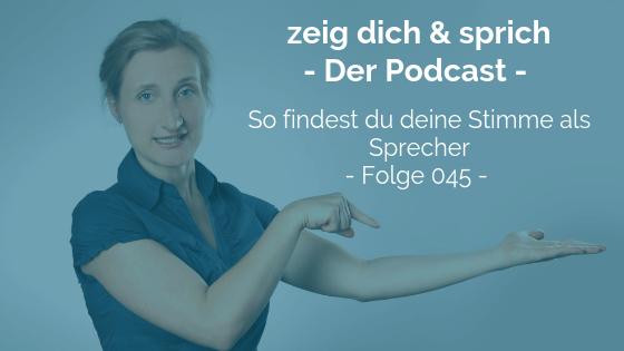 045: So findest du deine Stimme als Sprecher