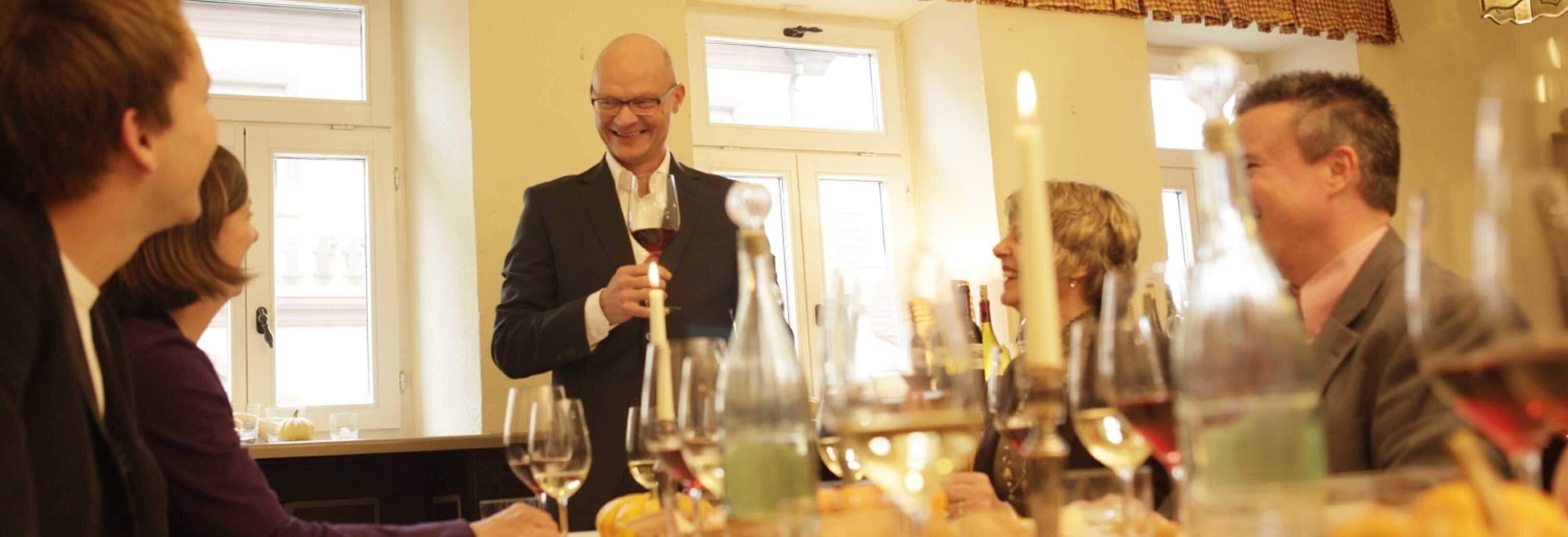 Wein-Dinner in einem Frankfurter Unternehmen
