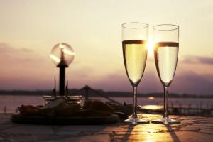 Champagner & Sekt am Strand