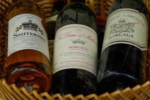Bordeaux-Flaschen