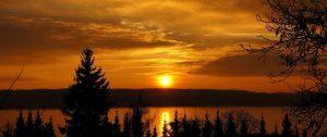 Sonnenuntergang mit Orange wines