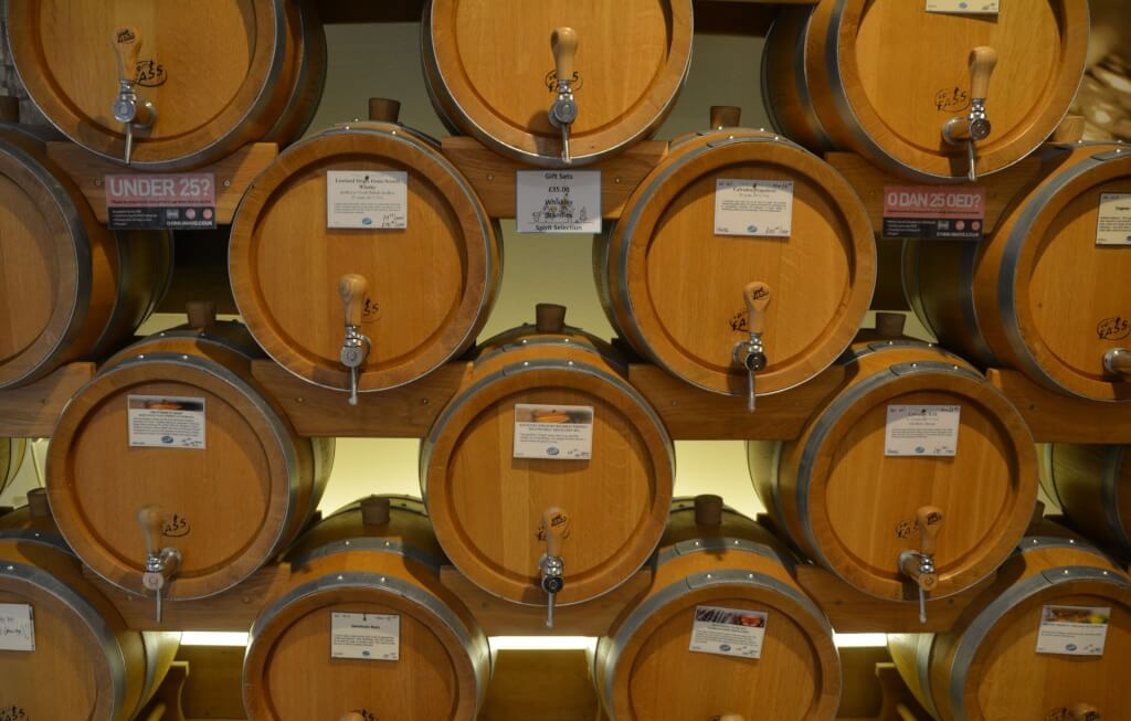 Rotwein Holzfaesser