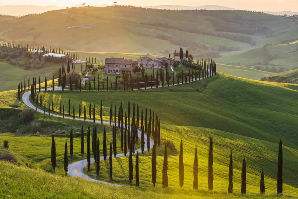 Toskana Reise Weinlandschaft