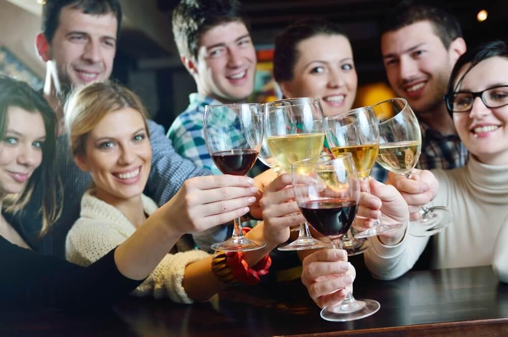 Gespuer fuer Wein frohe Menschen