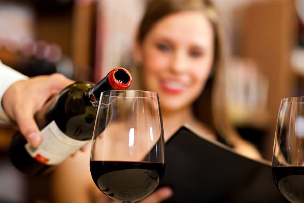 Gespuer fuer Wein im Restaurant