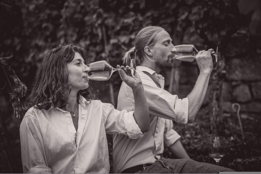 Roterfaden - das Winzerpaar Olympia Samara und Hannes Hoffmann im Podcast-Interview