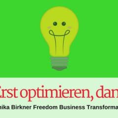 Wie Sie Ihr Business am besten optimieren, bevor Sie es weiter entwickeln - und warum Sie das tun sollten