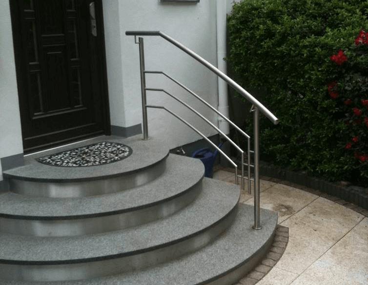 Edelstahlgelaender Treppe Steiner Edelstahl 1