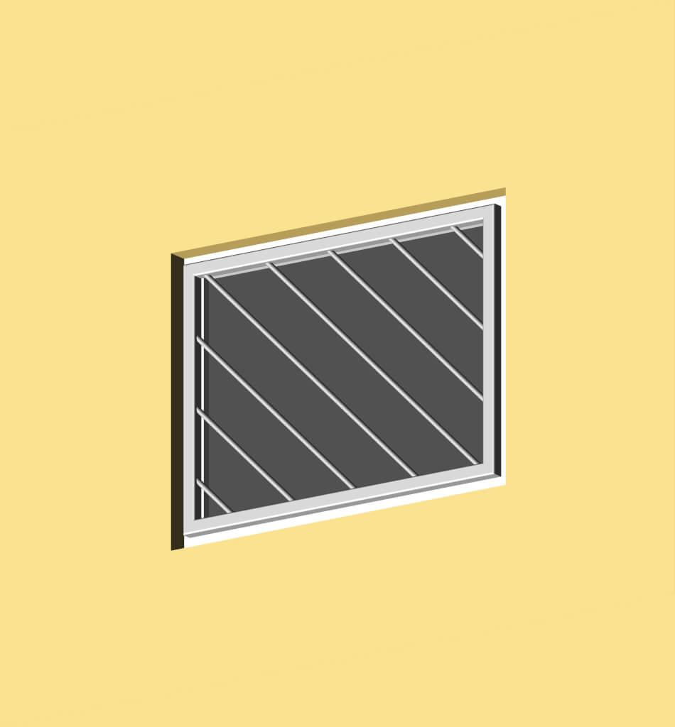 Fenstergitter diagonal