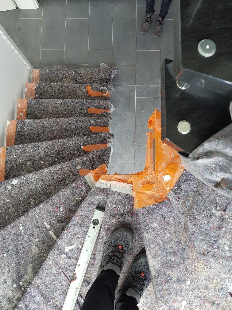 Treppe 180 Grad vorher nachher