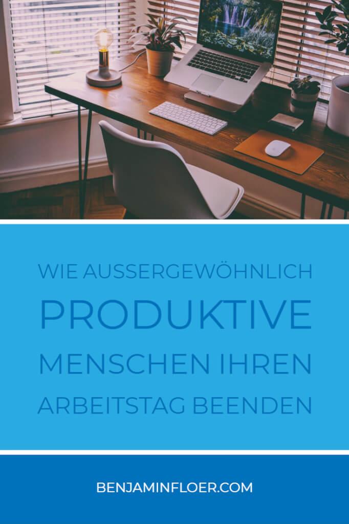 Wie außergewöhnlich produktive Menschen ihren Arbeitstag beenden