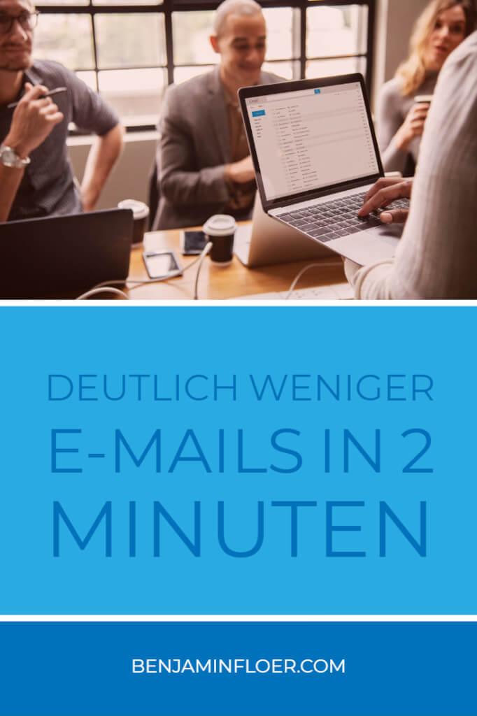 Deutlich weniger E-Mails in 2 Minuten