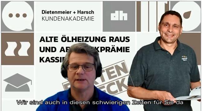 Der Heizungsmittwoch - live und digital - jeden Mittwoch ab 17.00 Uhr