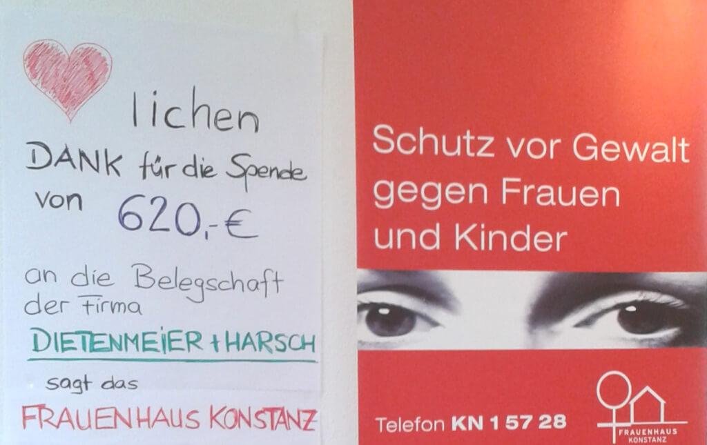 Frauenhaus sagt Danke fuer FB