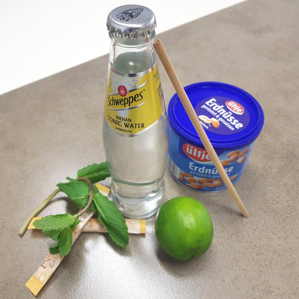 Zutaten fuer Cocktail