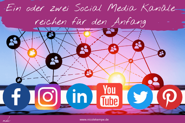 Auswahl Social Media Kanal als Coach