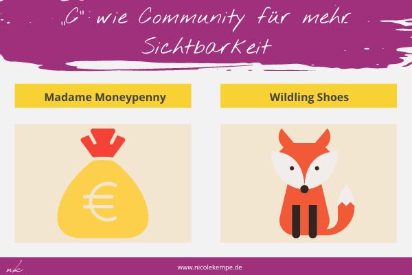 Beispiele fuer starke Communities Madame Moneypenny und Wildling Shoes