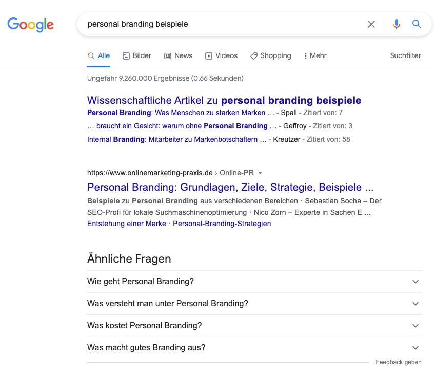 FAQ Artikel mit Google aenliche Fragen 1