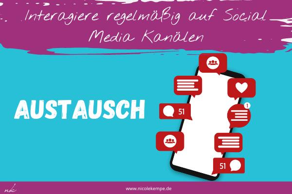 Interaktion Social Media fuer Sichtbarkeit