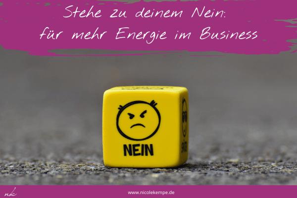 Nein sagen wenn Anfrage nicht zum Business passt
