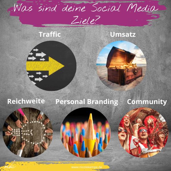 Ziele Social Media Selbststaendige