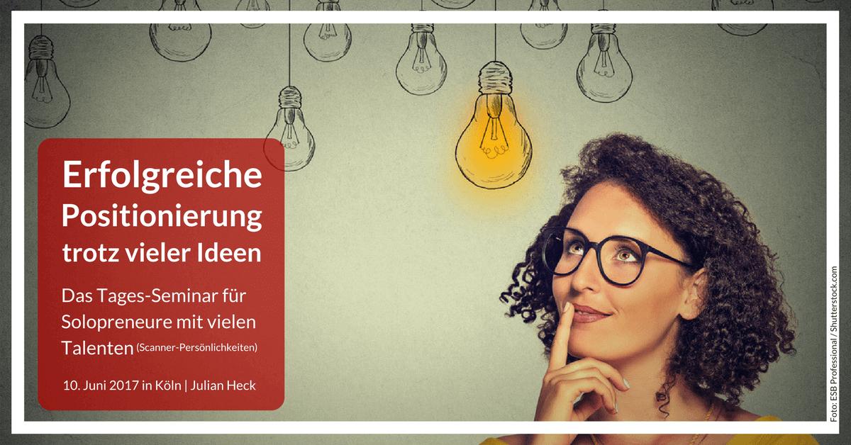 Spezial-Episode: Komm zum Positionierungs-Seminar nach Köln