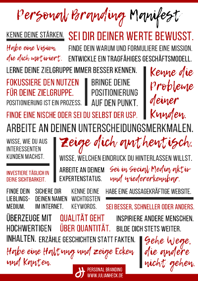 Personal Branding Manifest