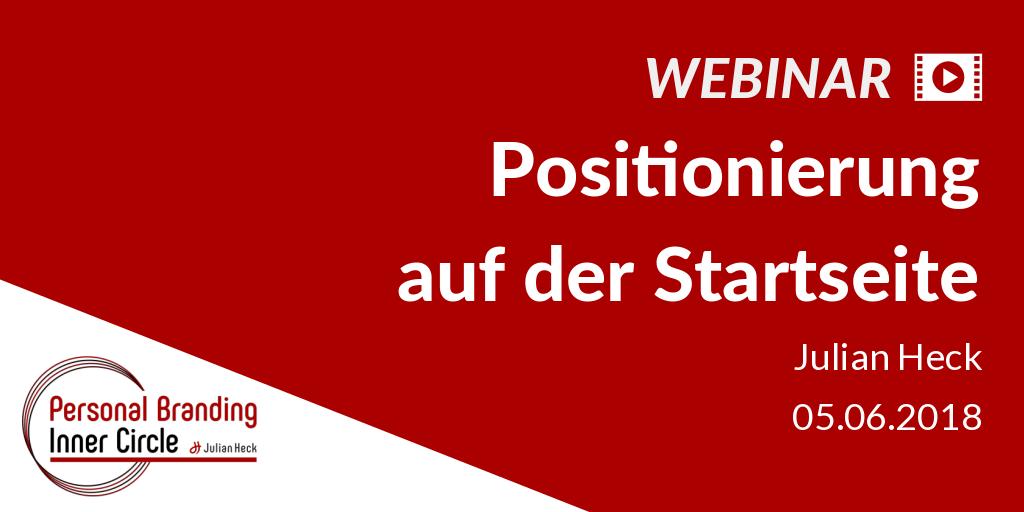 Webinar: Positionierung auf der Startseite