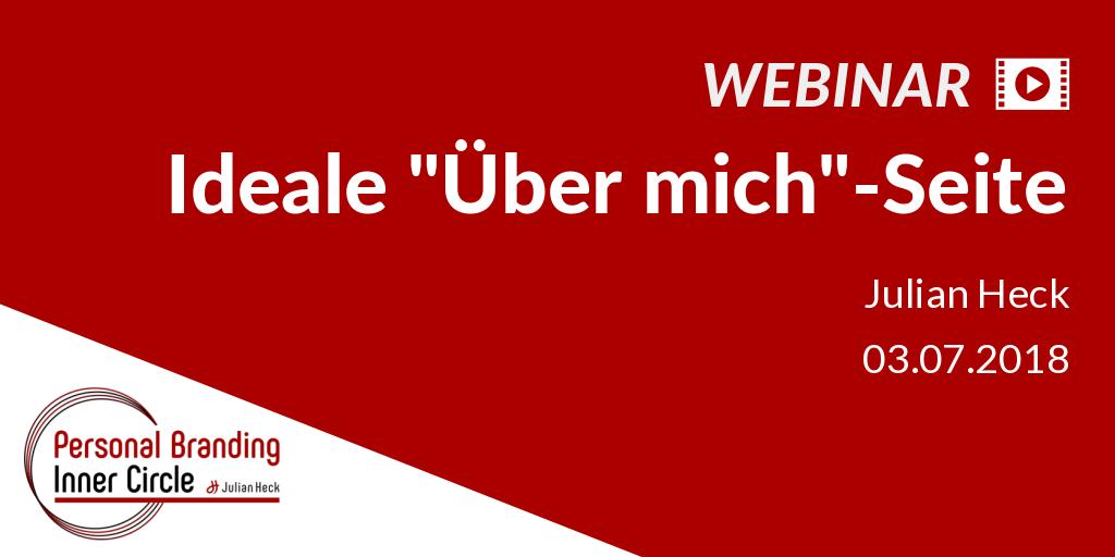 Webinar: Die ideale Über-mich-Seite