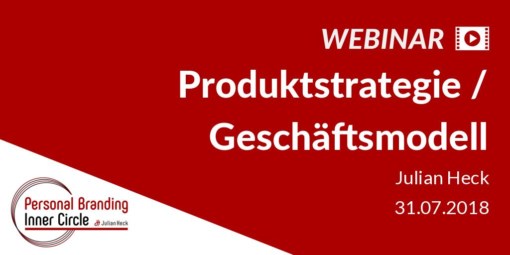 Webinar: Produktstrategie / Geschäftsmodell
