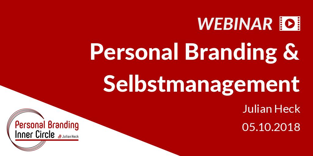 Webinar: Selbstmanagement