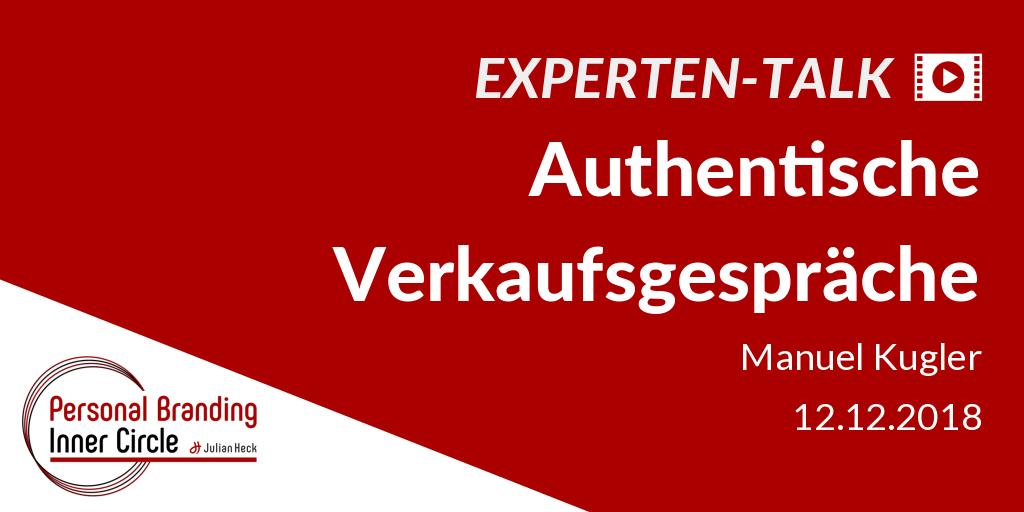 Experten-Talk: Authentische Verkaufsgespräche