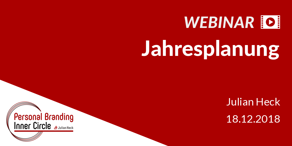 Webinar: Jahresplanung