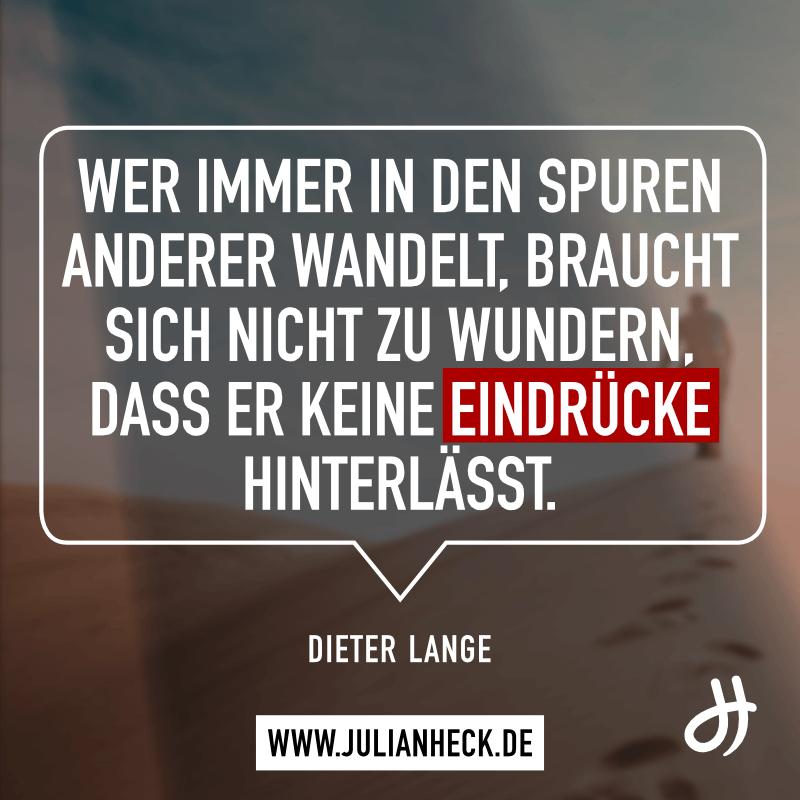 Zitat Dieter Lange Spuren