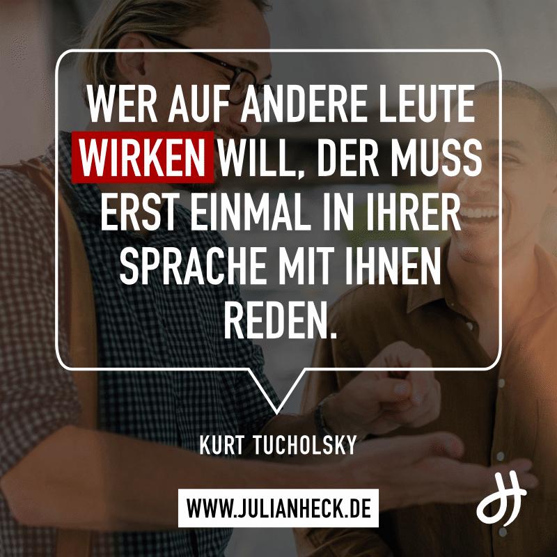 Zitat Kurt Tucholsky Wirken Sprache