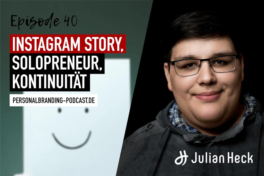 Instagram Story, Solopreneur, Kontinuität