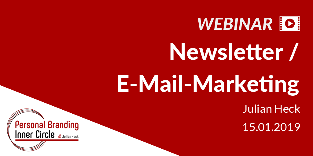 Webinar: Newsletter / E-Mail-Marketing