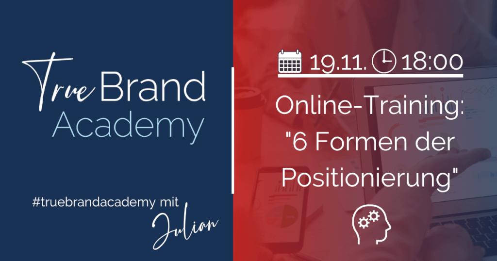 Online-Training: 6 Formen der Positionierung