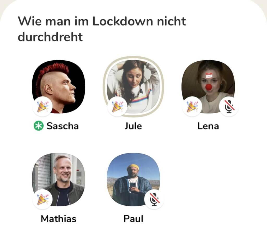 Clubhouse Screenshot Sascha Lobo Raum wie man im Lockdown nicht durchdreht