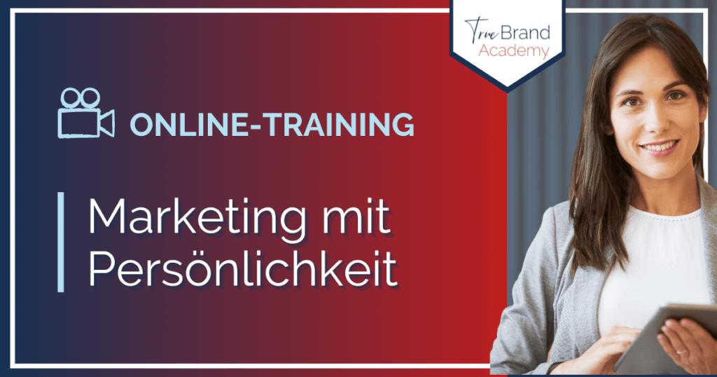 Online-Training: Marketing mit Persönlichkeit