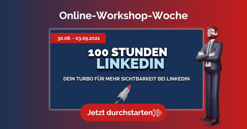 Werbung Blog 100 Stunden linkedIn