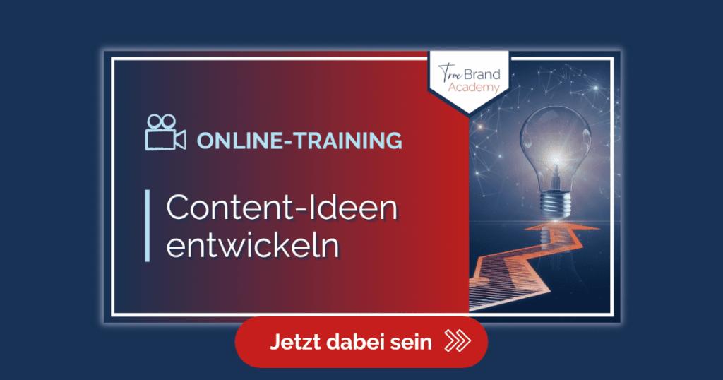 Werbung Blog TrueBrand Academy Contentideen