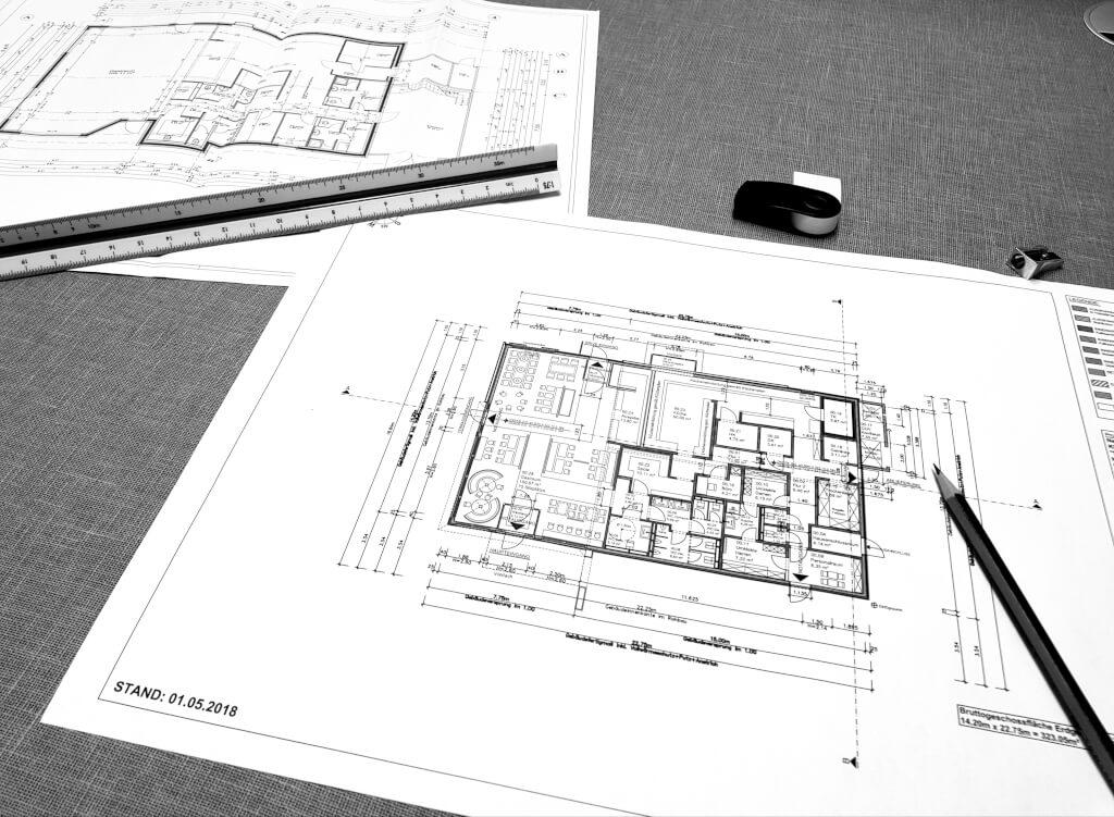 Bauzeichenplan - Planung ist einer der wichtigsten Punkte