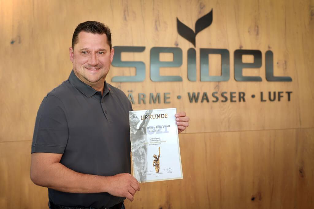 2021 03 Pressebild web Nominiert fuer Grossen Preis des Mittelstandes 2021 Seidel Heizung und Bad