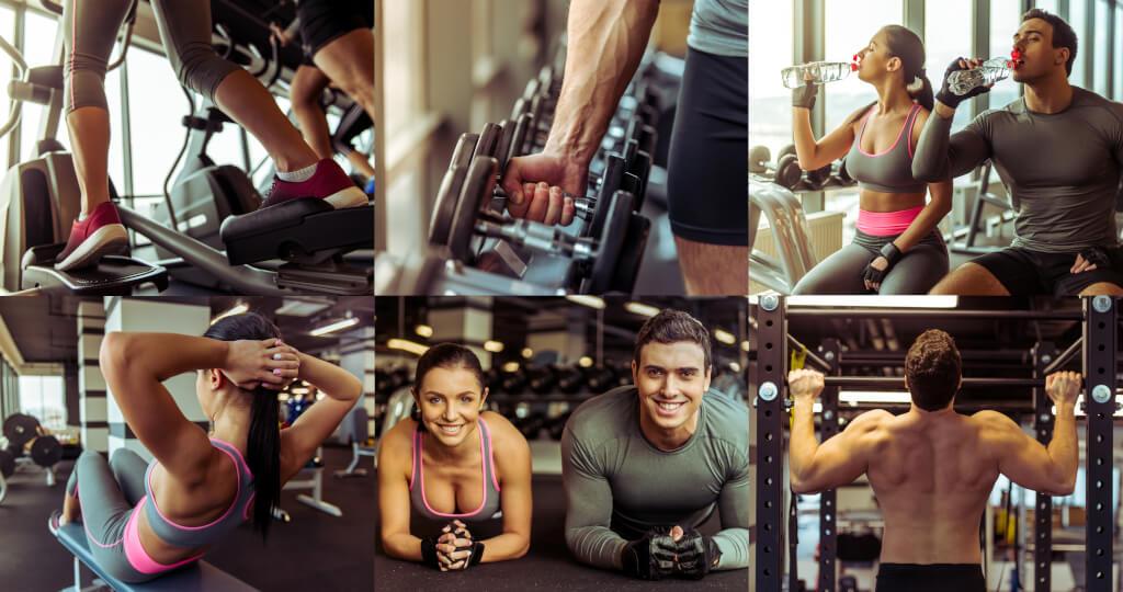paar fitness ausdauertraining Krafttraining 153247754