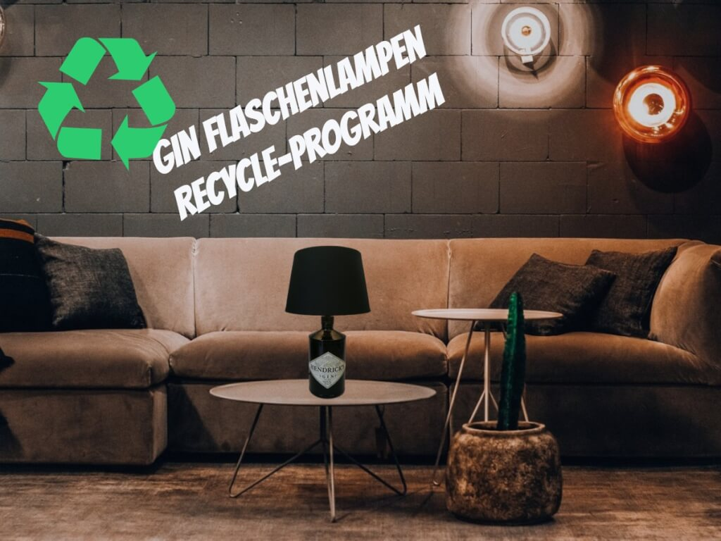 Gin Butler Gin Flaschenlampe Recycle Programm
