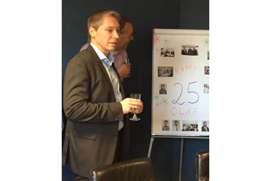 25-jähriges Firmenjubiläum von Olaf Brandt bei BASYS EDV-Systeme